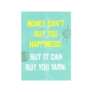 Postkarte - Money can`t buy you happiness