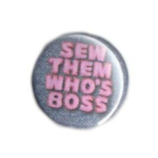 Button - sew them who`s the boss