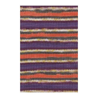 MERINO 120 COLOR violett/orange jacquard