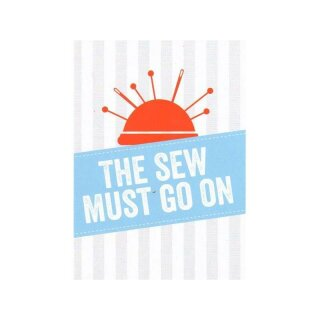 Postkarte - The sew must go on