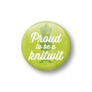 Button - proud to be a knitwit