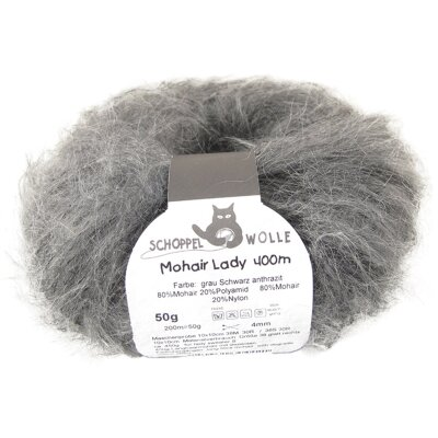 Mohair Lady Grey Black Anthracite Ombre 727 1387R