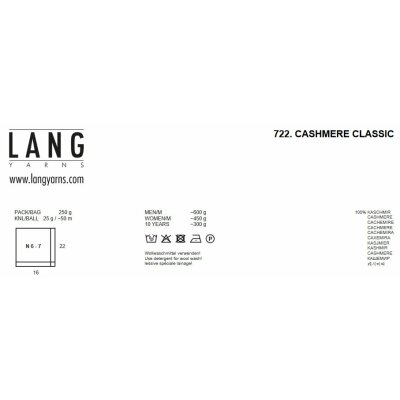 CASHMERE CLASSIC Wolle von Lang Yarns