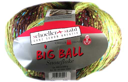 Big Ball Snowflake Wolle Schoeller Stahl